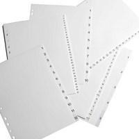 Elba Polypropylene Index Europunched A4 1-12 White Ref 100204771