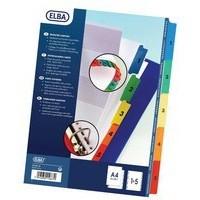 Elba A4 Extra-Wide Mylar Multi-Coloured Index 1-5 100204630