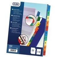 Elba A4 Extra Wide Mylar Multi-Coloured Index 1-10 M56558720