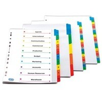 Elba A4 Colour Mylar Divider 10-Part Assorted 100204941