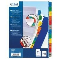 Elba A4 Extra-Wide Mylar Multi-Coloured Index 1-12 100204627
