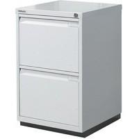 Bisley 2 Drawer Filing Cabinet Desk Height Flush Fronted Lockable Goose Grey 2FE