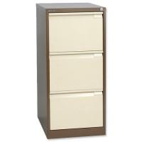 Image for Bisley 3 Drawer Filing Cabinet Lockable Coffee/Cream Flush Fronted BS3E