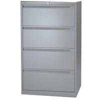 Bisley Side Filer Cabinet 4 Drawer Grey 08SF4GY
