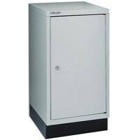 Bisley 1 Door Cupboard 349x460x670mm Goose Grey BA3/29 112C1GY