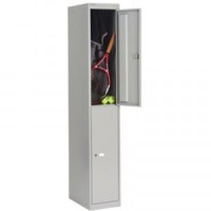 Bisley 2 Door Locker 305x457x1802mm Goose Grey