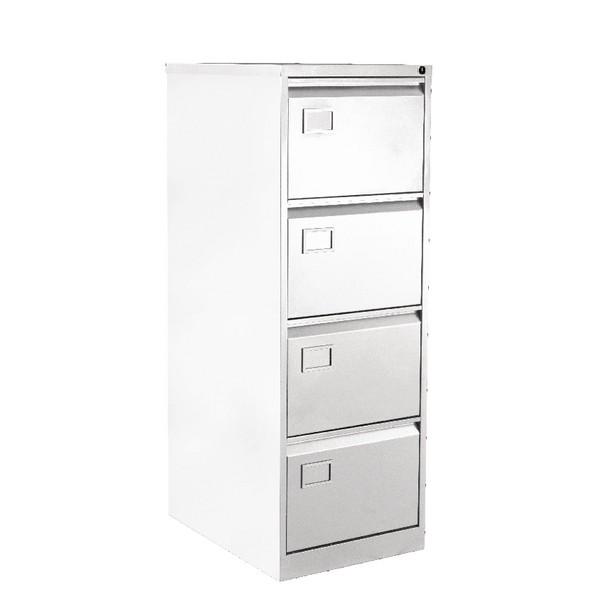 Bisley 4 Drawer Filing Cabinet White