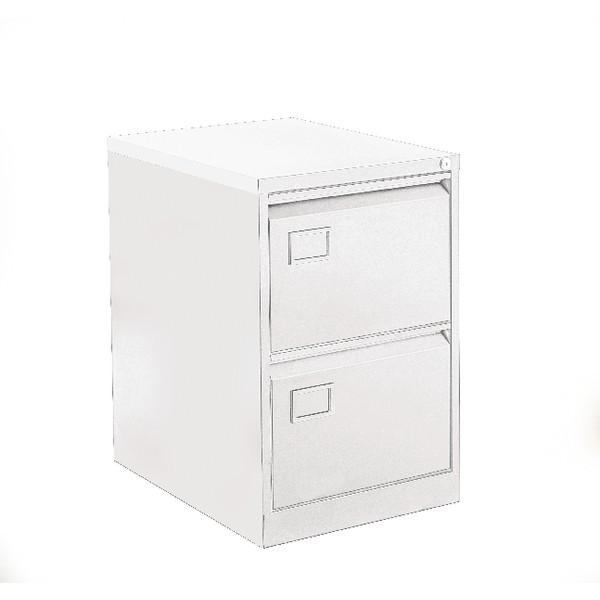 Bisley 2 Drawer Filing Cabinet White