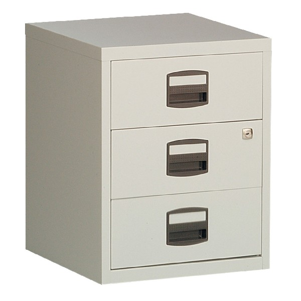 Bisley A4 Mobile Home Filer 3-Drawer Grey