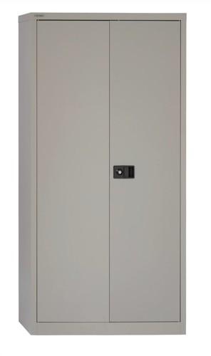 Bisley 2-Door Cupboard 914x400x1806mm 3 Shelves Goose Grey Ready Assembled
