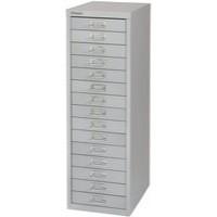 Bisley Non-Locking Multi-Drawer Cabinet 15 Drawer Grey