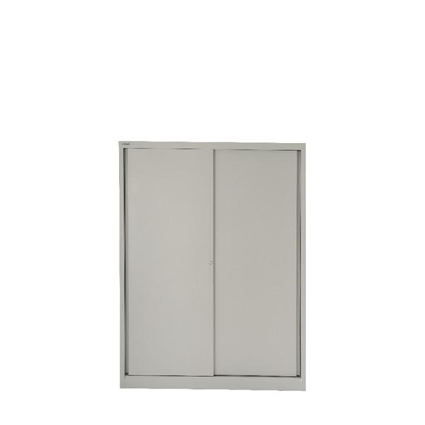 Bisley Cupboard 4 Dual Purpose Shelves Grey