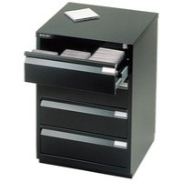 Bisley Media Storage Cabinet Black MS4E