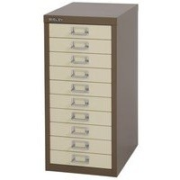 Bisley Non-Locking Multi-Drawer Cabinet 10 Drawer Coffee Cream