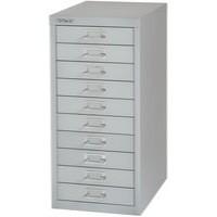 Bisley Non-Locking Multi-Drawer Cabinet 10 Drawer Grey BY36938