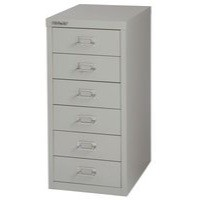 Bisley Non-Locking Multi-Drawer Cabinet 6 Drawer Grey