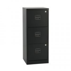 Bisley A4 Personal Filer 3-Drawer Black BY48279