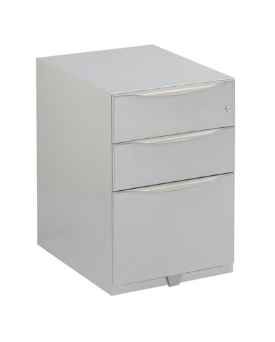 Bisley Wave Mobile Pedestal A4W 2 Stationery and File Drawer 645H Silver WVA52MSSF-RN