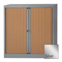 Bisley Euro Tambour Unit 1030mm 2-Shelf Silver