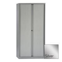 Bisley Euro Tambour Unit 1980mm 4-Shelf Silver