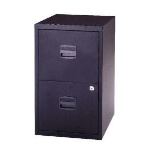 Bisley A4 Homefiler 2 Drawer Lockable Black PFA2-03