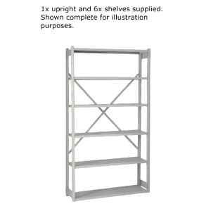 Bisley Shelving Extension Kit W1000 x D300mm Grey BY838031