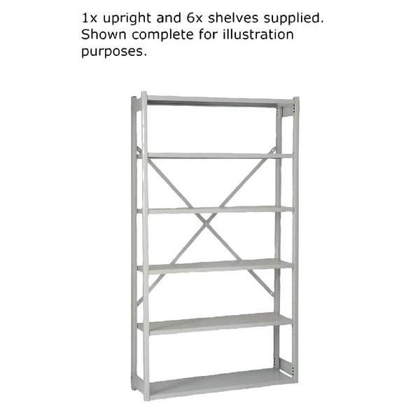 Bisley Shelving Extension Kit W1000 x D300mm Grey