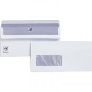 Plus Fabric Envelopes Wallet Press Seal Window 110gsm DL White Pack 500 Code C22570