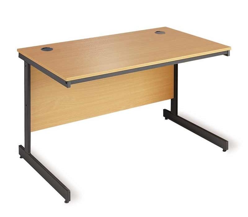 Straight C frame desk