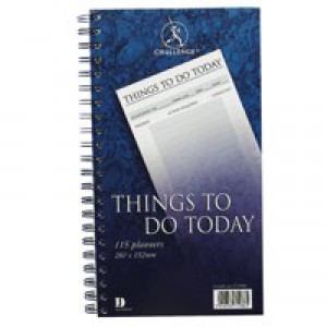 Challenge Planning Book Things to do Today Wirebound Perforated 115 Pages 280x152mm Code C71986