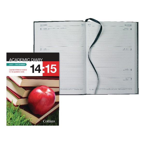 Collins A5 Week to View 2015/16 Academic Diary Black (Pack of 1) 35M