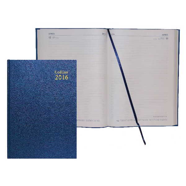 Collins Desk A4 Day Per Page 2016 Diary Blue 44