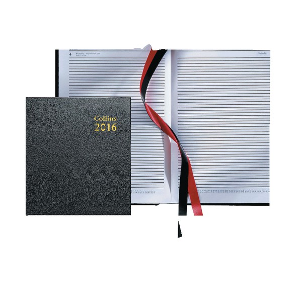 Collins Desk A4 Two Pages Per Day 2016 Diary Black 47