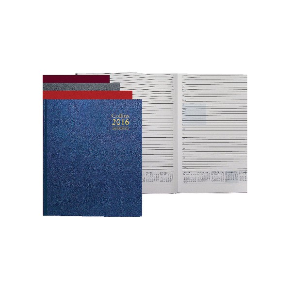 Collins Desk A4 Day Per Page 2016 Appointments Diary Assorted A44
