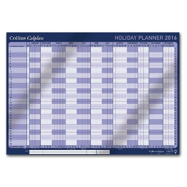Collins Colplan Holiday Planner 2016 CWC10