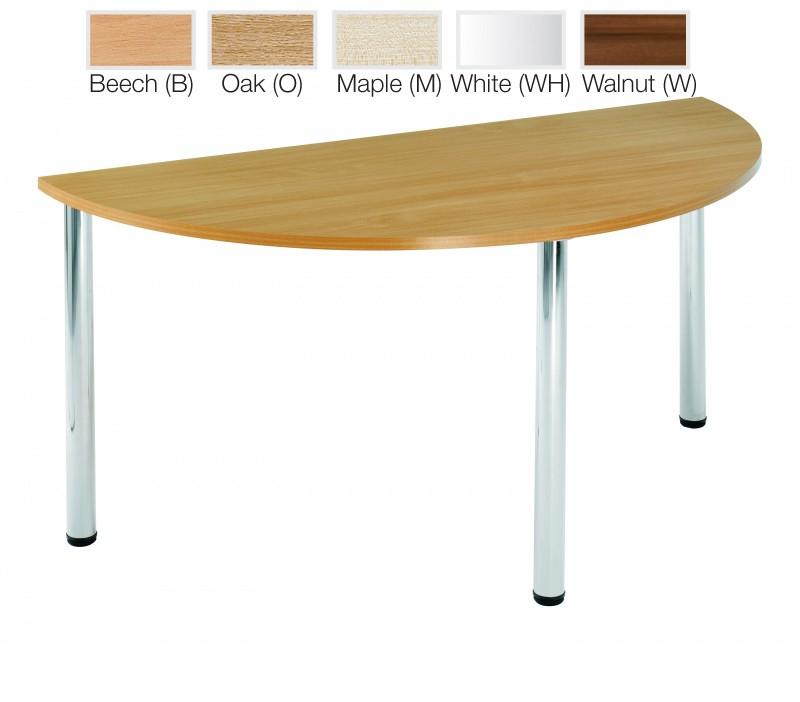 4 Chrome Leg Rectangular Table