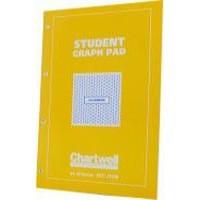 Chartwell Graph Pad A4 50 Leaf 5mm Yellow/Blue J424B