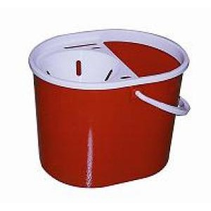 Mop Bucket Oval 15 litre Red