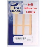 Owl Brand Labels Self-Adhesive 19x63mm White OBS6946