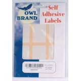 Owl Brand Labels Self-Adhesive 30x65mm White OBS6949