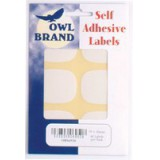 Owl Brand Labels Self-Adhesive 39x50mm White OBS6950