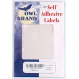 Owl Brand Labels Self-Adhesive 80x130mm White OBS6952