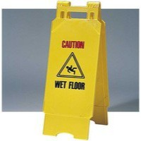 Contico Folding Safety Sign Caution Wet Floor Yellow PS124