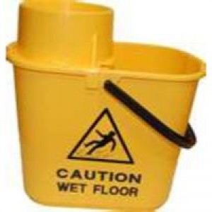 Mop Bucket Wringer 15 Litre Yellow SM15YL