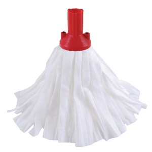 Contico Standard Big White Exel Mop Red Pack of 10 PSRE1210P