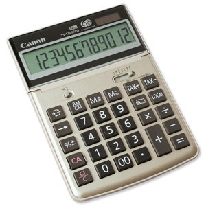 Canon Desktop Calculator 12-digit Display TS-1200TCG 2499B001AA