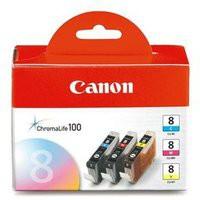 Canon CLI-8 Inkjet Cartridge Multi Pack CMY 0621B029AA