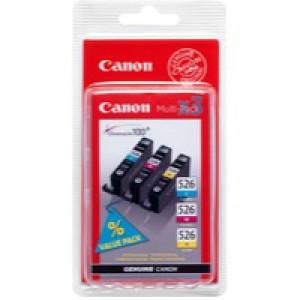 Canon CLI-526 Inkjet Cartridge Multi Pack CMY 4541B006AA