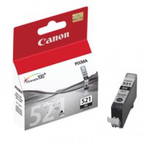 Canon iP3600/4600/MP540/620/630/980 Inkjet Cartridge 9ml Black CLI-521BK