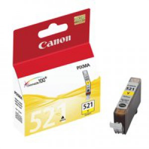 Canon iP3600/4600/MP540/620/630/980 Inkjet Cartridge 9ml Yellow CLI-521Y